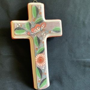 Vintage Tonala Cross Burnished Clay 7 1/4""